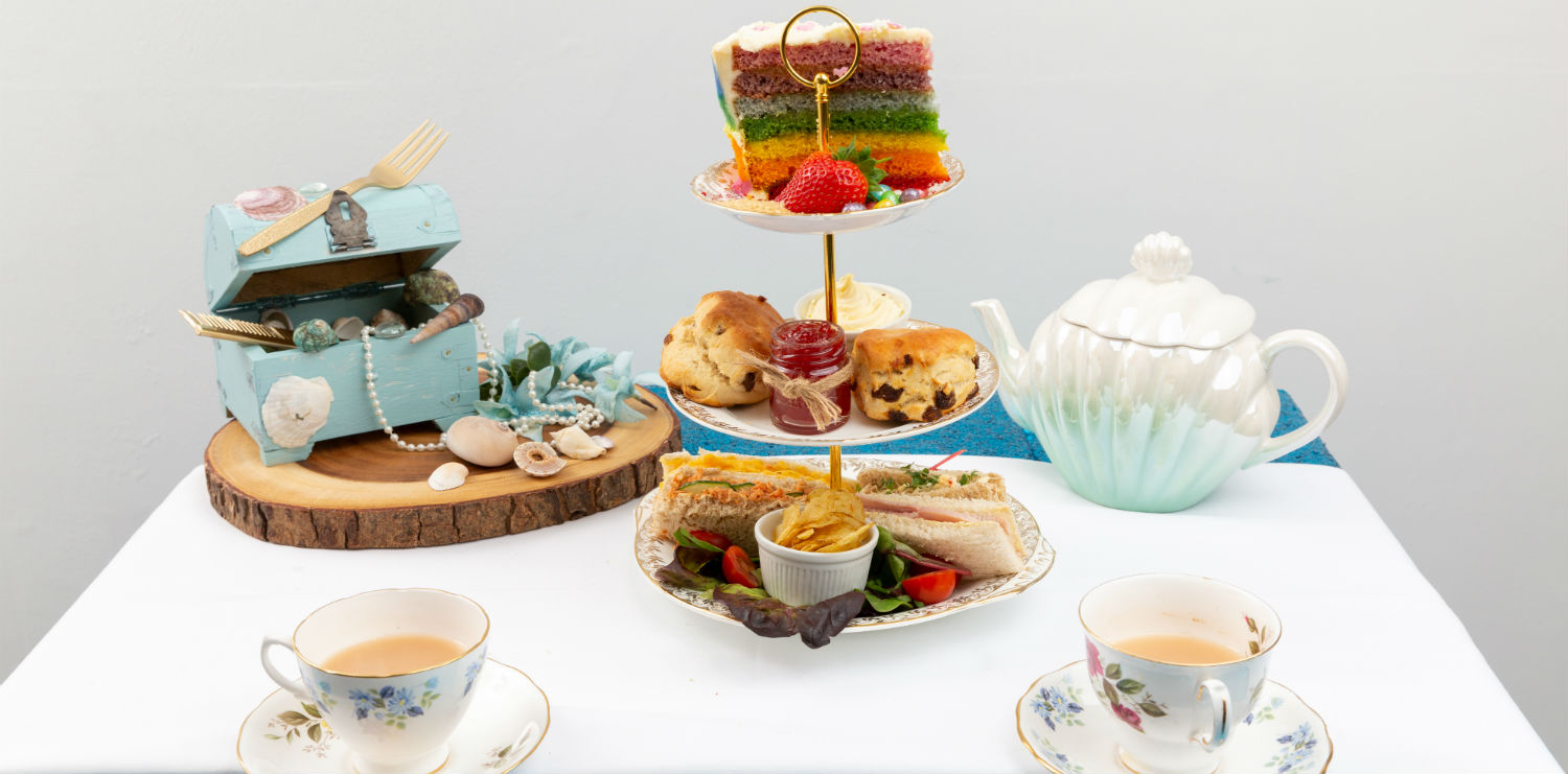 mermaid themed afternoon tea