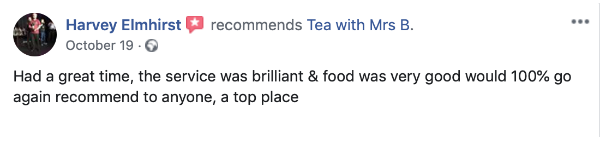 Positive Facebook Review